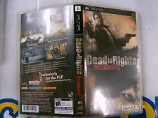 PSP GAME DEAD TO RIGHTS RECKONING (ORIGINAL USED)