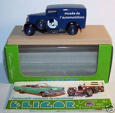 ELIGOR CITROEN CAMIONNETTE 500 KG 1934 MUSEE DE L'AUTOMOBILISTE REF1505 BOX BLUE