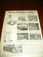 1955 5 CYLINDER RADIAL ENGINE SPORTS CAR LARRY FRAZIER  ***ORIGINAL ARTICLE***
