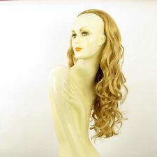 Demi-tête, demi-perruque 65cm blond doré ref 015 en 24b