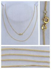 fina largo cadena de oro collar serie 750 Joya 60cm