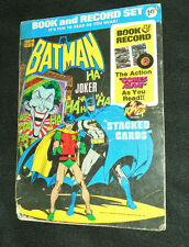 "1975 Vintage BATMAN ""STACKED CARDS"" BOOK AND RECORD SET COMPLETE RARE DC"