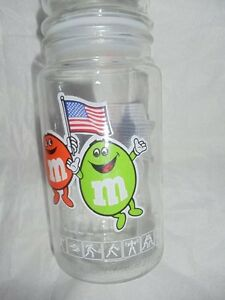 M & M's Olympic Glass Jar 1984 Games of the XXIIIrd Olympiad Los Angeles Anchor