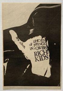 RICH KIDS 1978 original ADVERT GHOSTS OF PRINCES IN TOWERS