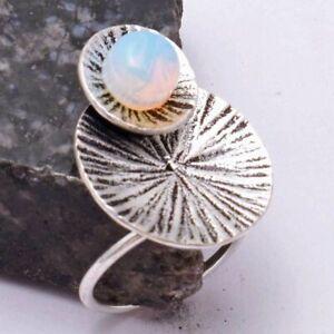 Opalite Ethnic Handmade Ring Jewelry US Size-6 AR 40715