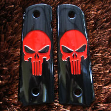 AMBI SAFETY RED MINI PUNISHER GRIPS FOR COLT 1911 KIMBER CLONE PISTOL FULL SIZE