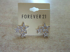 Forever 21 Bling stars triple vintage studs shine Earrings charm mature nice