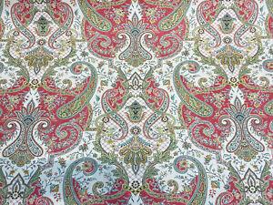 Waverly Lyrical Legend Radish Coral Floral Print Fabric By The Yard