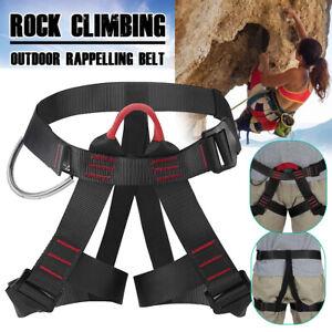 Safety Rock Tree Climbing Rappelling Harness Seat Sitting Waist Belt Outdoor