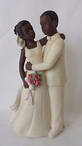 Sarah's Attic Family Essence Wedding Day Love African American 0905 Figurine NIB