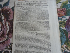 1813 Postzeitung 21 / Russia Wilna Borisow Prussia Orientale Innsbruck