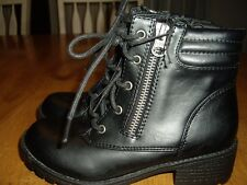 NWOT Girls Size 13 Stevies Black Boots Laces and Zipper Chunky Heel Target