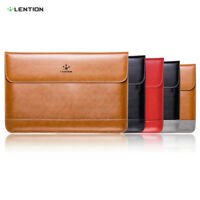 LENTION Ultra Split Leather Sleeve Laptop Case Bag for MacBook Air/Pro 13 Retina