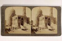 Egitto Cairo Moschea L8n3 Foto Stereo Vintage Citrato 1904