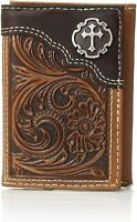 Nocona Western Mens Belt Scalloped Studs Crystals Conchos Overlay Brown N2499448
