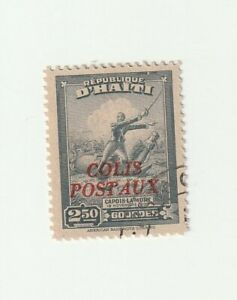 Haiti 1940 $2.50 Death of Capois Colts Postaux Overprint Used Stamp