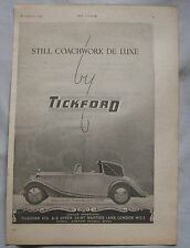 1945 Rolls Royce Tickford D.H. Coupe Original advert No.1