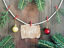 NEW French Country Noel Christmas Cork Backed Place Mats Rustic Modern Set of 4