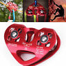 30kN Zip Line Cable Trolley Dual Pulley Fast Speed for Climbing Tyrolean Hauling