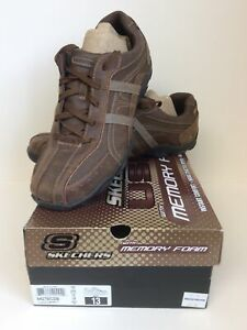SKECHERS Mens Murilo Dark Brown Shoes Size UK 12