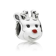 Authentic Pandora Charm Sterling Silver 791781EN39 Red nosed Reindeer
