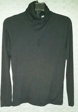 Chelsea & Theodore Black Tencel Dressy Long-Sleeve Women's Med. Pullover Top
