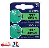 2 PILES SR416SW / SR416 / 337 / 1,55V SONY / Pile bouton pour montre