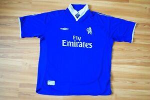 VINTAGE CHELSEA LONDON 2001-2002-2003 HOME FOOTBALL SOCCER SHIRT JERSEY SIZE XXL