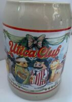 Vintage Stoneware Utica Club Characters Beer Stein Mug Collectible Barware
