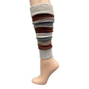 Girl's Stripe Lambswool Knee Hi Leg Warmers, Women Leg Warmers, Gift for Mom