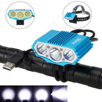 15000LM 3x XML T6 USB 4.2V LED Front Bicycle Bike Rechargeable Head Light Torch