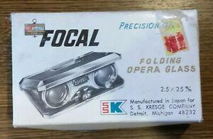 Focal Folding Opera Glasses Binoculars Vintage Rare Retro Boxed Kmart