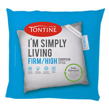 Tontine Simply Living Firm / High European Pillow Machine Washable Date Stamped