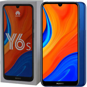 BNIB Huawei Y6S Dual-SIM 32GB ROM + 3GB RAM Blue Factory Unlocked 4G/LTE GSM