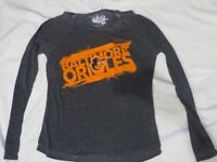 MLB Baltimore Orioles Women's Long Sleeved Gray T-Shirt Small/S NWT