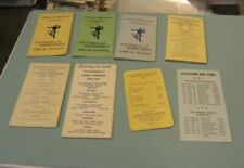 1960's Littlestown Pennsylvania High School Football & Basketball 8 Schedule Lot