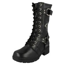 Combat Boots Lace Up Casual Shoes for Women