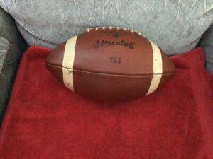 Vintage Spalding J5V leather college football. YALE