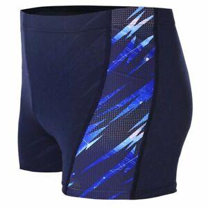 Men's Competition Swim Briefs Digital Printing Trunks Sport Nylon Swimsuits