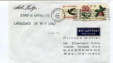 1967 Esro II Satellite Lompoc Ca Chirstmas SPACE NASA SIGNED
