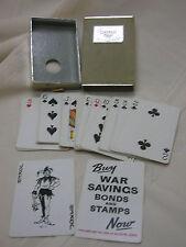 Vtg Playing Cards Congress Cel-U-Tone Finish 49 +2 Jokers Cards Buy War Bonds