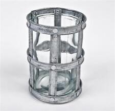 Vasi d'argento di vetro per la decorazione della casa
