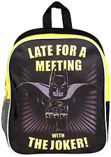 OFFICIAL BATMAN LEGO MOVIE JUNIOR BOYS KIDS BACKPACK RUCKSACK SCHOOL BAG NEW