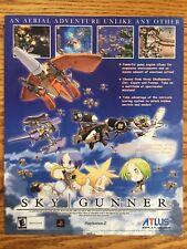 Sky Gunner PS2 Playstation 2 2002 Atlus Vintage Video Game Poster Ad Art Print
