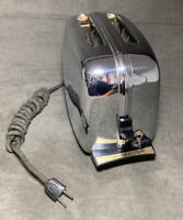 Vintage Toastmaster 2-Slice Toaster MCM 1950s Model 1B24 Chrome Works