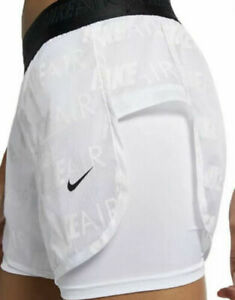 Nike Women's Dri Fit Air Running Shorts with Built In Briefs Save 20%  XS