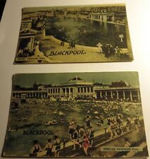 Two Color Postcards of Swimming Pools, in Blackpool, UK from Mid 1900's