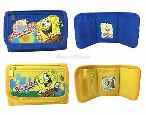 Spongebob wallet Set of 2 Children Boys Girls Wallet Kids Cartoon Coin Purse