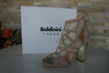Baldinini Trend 40 Sandaletten Heels Sandalen Schuhe beige NEU ehem.UVP 446€