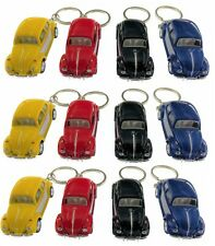 "12PC Box: 2.5"" Kinsmart 1967 VW Beetle 2Tone Keychain Diecast Model Toy Car 1:64"